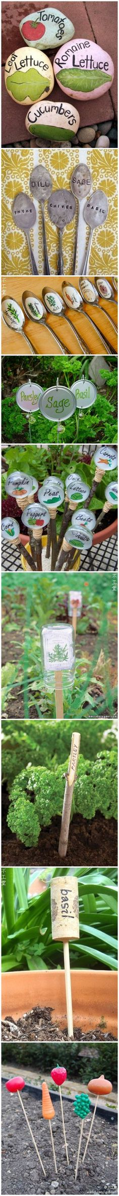 Cute garden markers, you will remember what you have planted if you make some of these.