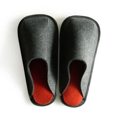 Felt Slippers with Leather Bottom by aikafeltworks on Etsy, $103.00