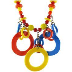 Vintage 1960's Plastic Fringe Mod Necklace