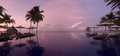 Conrad Maldives Rangali Island Hotel - Overlooking pool at sunset