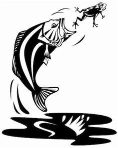 fish in water clip art fishing boat silhouette clip art rh pinterest com Fish Printables Microsoft Clip Art Birds