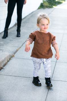 Lot801 baby + toddler harem leggings and joggers. Every modern kids must HAVE this fall. They go with everything! baby girl style. baby boy style.