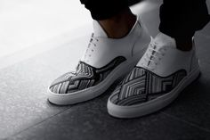 Image of Filling Pieces 2014 Fall/Winter Mountain Cut Wired Woven Leather Sneakers
