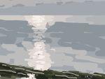 Danny Mooney 'Low sun, 26/12/2014' iPad painting #APAD