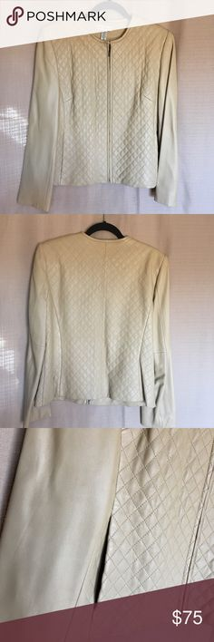 """LORD & TAYLOR Genuine Leather Cappuccino Quilted NWOT , Flawless, Lightweight, Soft , Gorgeous cappuccino color. Fits perfectly to size 10                     Dimensions: Shoulder 16,5"""". Bust 42"""".  Length 23,5""""  Sleeves 24,5"""" Lord & Taylor Jackets & Coats"""