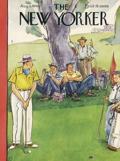 The New Yorker - Saturday, August 3, 1946 - Issue # 1120 - Vol. 22 - N° 25 - Cover by : Perry Barlow