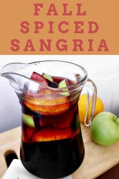 A Fall Sangria recipe with red wine fall spice cranberry liquor. Try this spiced sangria recipe thats only one in the book 52 Seasonal Cocktails. Fall Recipes, Holiday Recipes, Pink Recipe Box, Fall Sangria, Recipe T, Recipe Magic, Thanksgiving Drinks, Holiday Cocktails, Cocktail Recipes