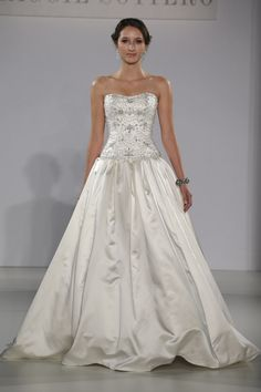 Maggie Sottero - Bridal Fall 2013    TAGS:Embellished, Floor-length, Strapless, White, Silver, Maggie Sottero, Glamour, Princess
