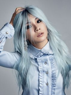 Asian beauty - Patrick Demarchelier for Vogue Korean Beauty, Asian Beauty, Summer Hairstyles, Cool Hairstyles, Chaelin Lee, Cl Fashion, Pastel Fashion, Temporary Hair Dye, Patrick Demarchelier