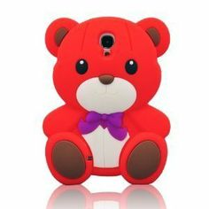 Let this Cute Stylish Teddy Bear Soft Silicone Case Cover for Samsung Galaxy (Red) add zest to the appearance of your cell phone while keeping it safe from destructive elements, at the least wholesale price just here! The lovely teddy bear gra Samsung Galaxy S4 Cases, Tablet Cases, Phone Cases, Cartoon, Ipads, Teddy Bears, Stylish, Phone Accessories, Mobiles