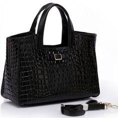 4you2wear Zwarte stijlvolle leren damestas