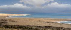 Dead Sea shoreline panorama