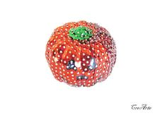 Sequin Ornament Sequined Pumpkin Pumpkin by CreArtebyPatty on Etsy