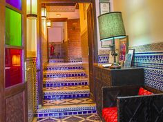 Riad Fez, Le Riad, Fez Morocco, Architecture, Stairs, Home Decor, Home, Arquitetura, Stairway