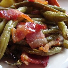 "Arkansas Green Beans | "" Your family will never look at Green Beans the same again. These beans are sweet and savory and smell fabulous in the oven."""""