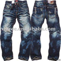 Mans jeans summer light color men jeans slim water wash skinny ...