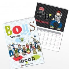 Personalised Bang on the Door Boys A4 Wall Calendar