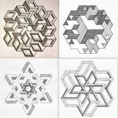 #regolo54 #impossible #geometry #symmetry #pattern #isometric #mathart #triangle…