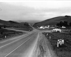 State highway 101 looking south from Tiburon Wye Marin County -  June 8, 1931