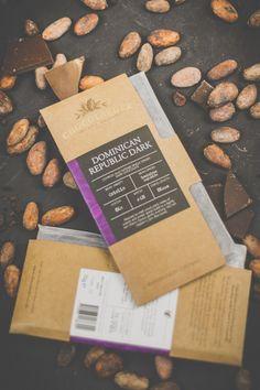 Dominican republic dark chocolate - Branding, Packaging, Photography  #chocolatelabels #chocolatebar