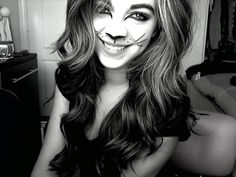 I was a cat todaaay, and I'll be one tomorrow. Cat Makeup, Trust Me, Halloween Face Makeup