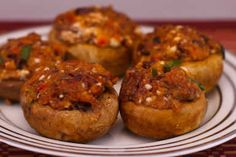 Stuffed Mushrooms Recipe with Feta Cheese and Kalamata Olives  [from Kalyn's Kitchen]