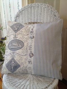 French Country Pillow Cover Shabby Chic by ParisLaundryDesigns, $42.00