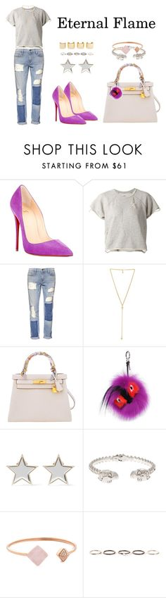 """Eternal Flame"" by anaelle2 ❤ liked on Polyvore featuring Christian Louboutin, NSF, Frame Denim, Ettika, Hermès, Fendi, Givenchy, Alexander McQueen, Michael Kors and Henson"