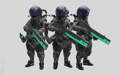 """SPACECREW [ YN9 ] """"camo"""", Nelson Tai on ArtStation at https://www.artstation.com/artwork/r4m9a"""