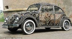 Wrought-iron VW Beetle