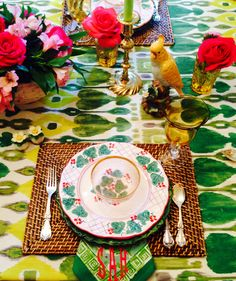 Colorful and happy table setting