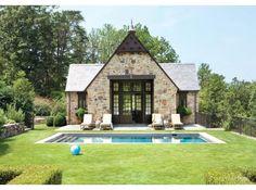 Pool and pool house. Natural Beauty | Atlanta Homes Lifestyles