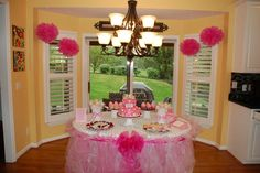 Tutu table - Baby girl shower
