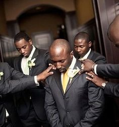 How awesome it is to see the groom being covered in prayer !!!