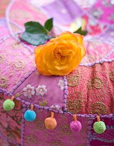 colorful ottoman and Gypsy Style, Bohemian Style, Ibiza Style, Passementerie, Happy Colors, Hippie Chic, Bohemian Decor, Rainbow Colors, Color Splash