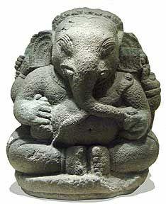 Ganesha - Indonesia Majapahit empire,  Java, 14th Century, stone