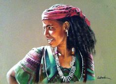 Pastel on Card Pastel Artwork, Dreadlocks, African, Hair Styles, People, Pastels, Inspiration, Beauty, Color