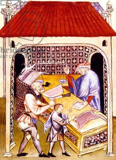 Tacuinum Sanitatis (BNF Latin century for salted meat Medieval Market, Medieval Life, Medieval Fashion, Medieval Manuscript, Illuminated Manuscript, History Images, Art History, Book Of Hours, Ancient Mysteries