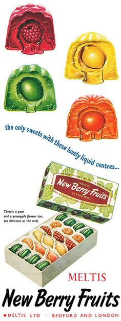 New Berry Fruits. Always had these at Christmas. They were so sweet they made your eyes water!