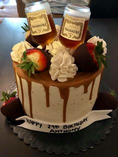 We are certified in Pastry Arts by the Art Institute of New York City as well as licensed by the NYC Department of Health and Mental Hygiene in Food Protection. Alcohol Birthday Cake, 21st Birthday Cake For Guys, 25th Birthday Cakes, Alcohol Cake, Adult Birthday Cakes, Purple Birthday Cakes, Cupcakes, Cupcake Cakes, Recipes