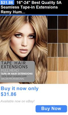Wig and Extension Supplies: 16-24 Best Quality 5A Seamless Tape-In Extensions Remy Human Hair Extensions BUY IT NOW ONLY: $31.86