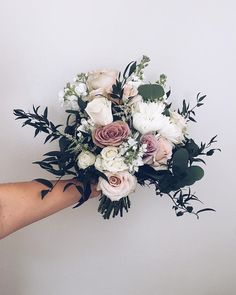 (southernatlas) on mauve wedding bouquet Wedding Bridesmaid Bouquets, Bride Bouquets, Mauve Wedding, Floral Wedding, Wedding Yellow, Yellow Weddings, Rustic Wedding Flowers, Perfect Wedding, Dream Wedding
