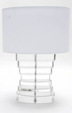 Pair of Stacked Lucite Table Lamps image 2