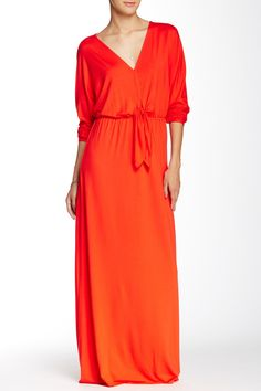 V-Neck Maxi Dress with Tie  by Three Dots on @nordstrom_rack