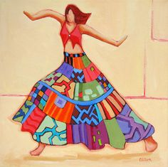 pintura figura contemporânea de um dançarino por Carolee Clark