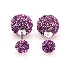 Karma Double Dots Oorsieraden - Amathyst Mini Spike http://www.boumanonline.com/jewelry/karma-double-dots-oorsieraden-amathyst-mini-spike-ka-11175
