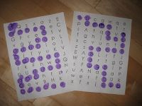 Letter paths for each letter of the alphabet!  Just add bingo dobber.