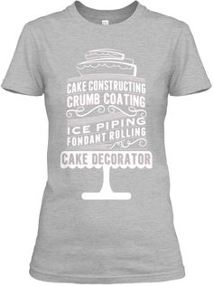 When All Else Fails Bake Women/'s Fitted Cotton T-Shirt cake bread hobby baking