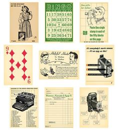 October Afternoon Thrift Shop Artist Trading Cards