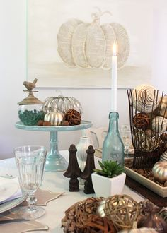 Fall Table Decor in